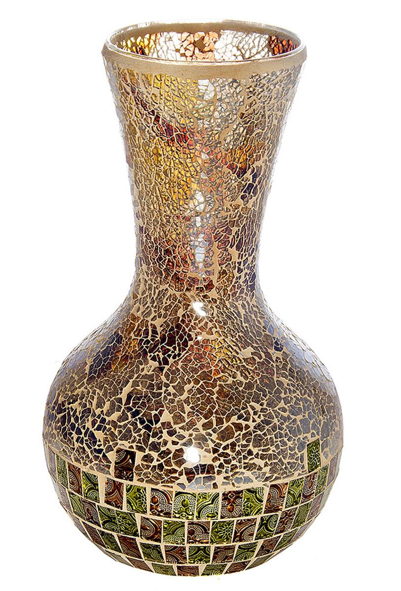 Ваза Русские Подарки Мозаика, высота 35 см. 8673386733Ваза Русские Подарки, выполненная из стекла, украсит интерьер вашего дома или офиса. Оригинальный дизайн и красочное исполнение создадут праздничное настроение. Такая ваза подойдет и для цветов, и для декора интерьера. Кроме того - это отличный вариант подарка для ваших близких и друзей. Правила ухода: мыть теплой водой с применением нейтральных моющих средств.