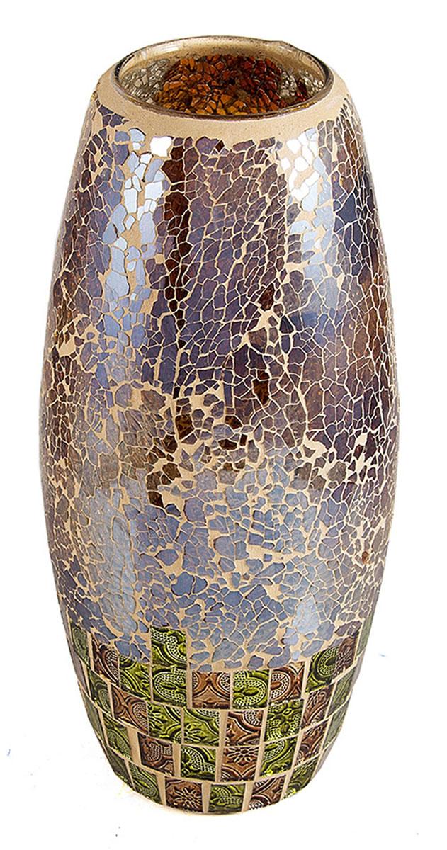 Ваза Русские Подарки Мозаика, диаметр 30 см. 8673486734