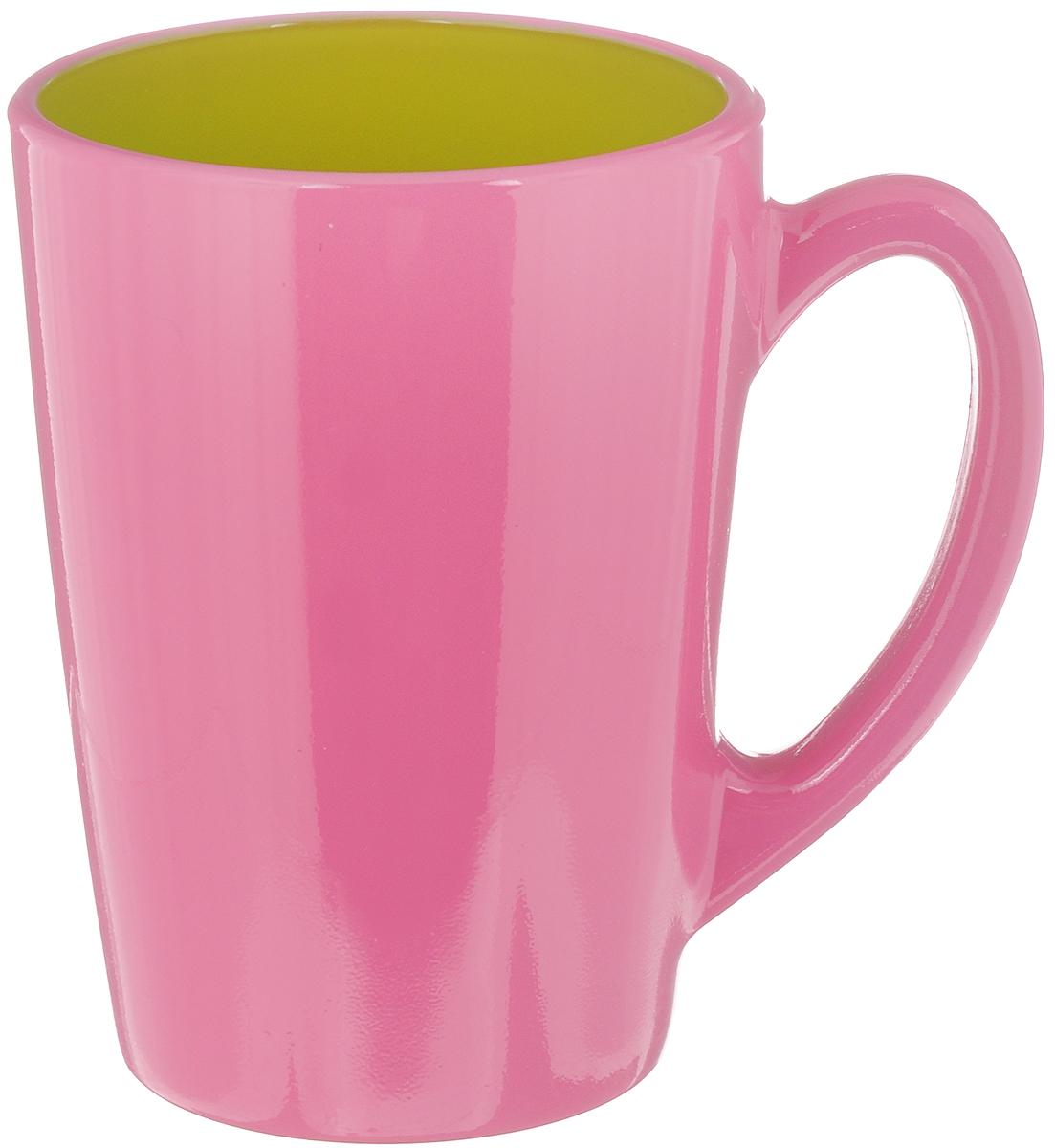 Кружка Luminarc Spring Break, цвет: розовый, салатовый, 320 млH8279Кружка Luminarc Spring Break, изготовленная из высококачественного стекла, оснащена эргономичной ручкой. Кружка прекрасно дополнит интерьер любой кухни. Яркий дизайн изделия придется по вкусу и ценителям классики, и тем, кто предпочитает утонченность и изысканность. Диаметр кружки (по верхнему краю): 8 см. Высота кружки: 11 см.