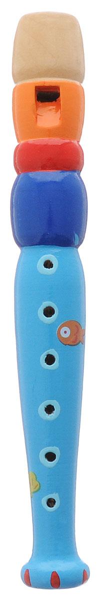 Мир деревянных игрушек Дудочка цвет голубой синий красныйД216_голубой, синий, красный, оранжевыйДудочка Мир деревянных игрушек представляет собой любопытный для малыша духовой инструмент, играть на котором можно с помощью закрывания в соответствующей последовательности дырочек. Дудочка издает приятный звук, который непременно понравится ребенку. С помощью этого инструмента малыш сможет устроить веселый концерт и порадовать своих родных и друзей. Музыкальная игрушка поможет вашему ребенку развить звуковое восприятие, концентрацию внимания, а также привить малышу любовь к музыке. Дудочка изготовлена из натурального дерева.
