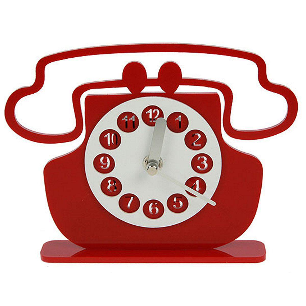 Часы настольные Русские Подарки Телефон, 20 х 15 см. 122424122424