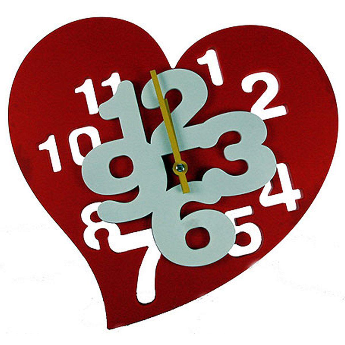 Часы настенные Русские Подарки Сердечко. 222419222419Часы настенные Русские Подарки Сердечко изготовлены из пластика. Корпус оригинально оформлен в виде сердца. Часы имеют две стрелки - часовую и минутную. С обратной стороны имеется петелька для подвешивания на стену. Такие часы красиво и необычно оформят интерьер дома или офиса. Также часы могут стать уникальным, полезным подарком для родственников, коллег, знакомых и близких. Часы работают от батареек типа АА (в комплект не входят).