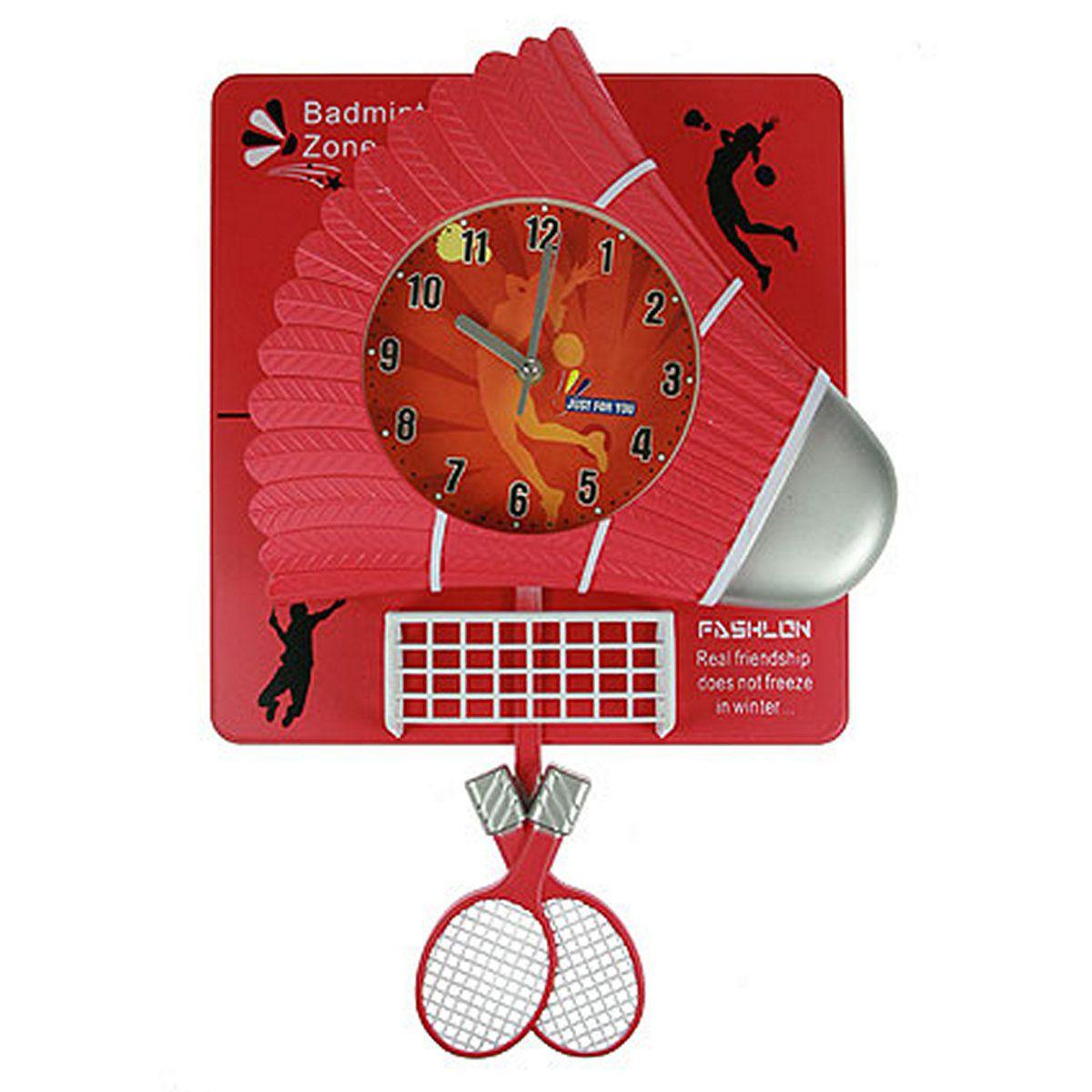 Часы настенные Русские Подарки Бадминтон, 31 х 6 х 46 см. 222424222424
