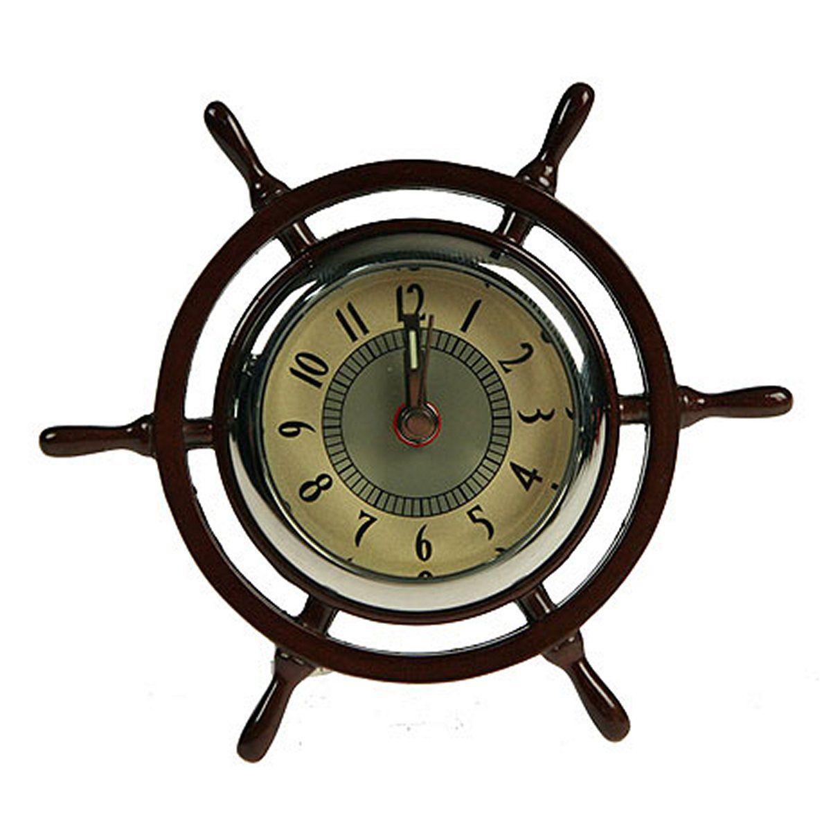Часы настольные Русские Подарки Штурвал, 4 х 4 х 7 см. 2241622416