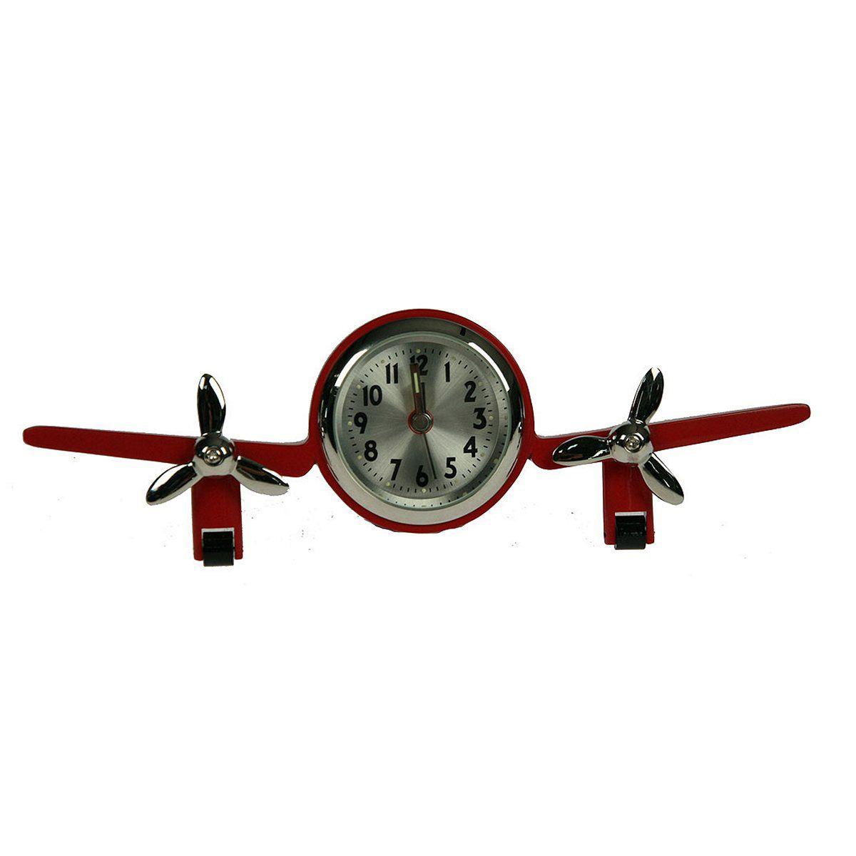 Часы настольные Русские Подарки Самолет, 16 х 2 х 7 см. 2241922419