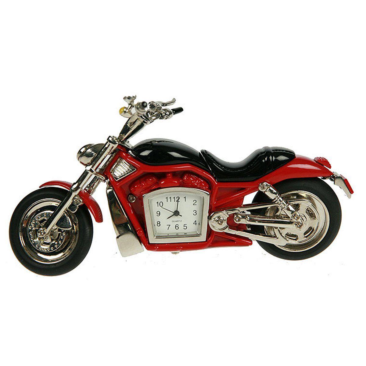 Часы настольные Русские Подарки Мотоцикл, 1 х 12 х 6 см. 2242322423