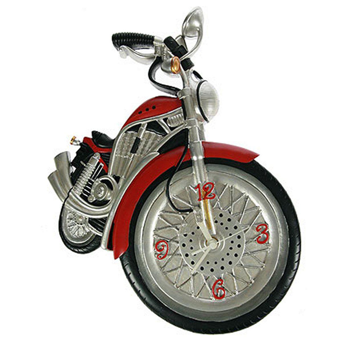 Часы настенные Русские Подарки Мотоцикл, 20 х 7 х 38 см. 224863224863
