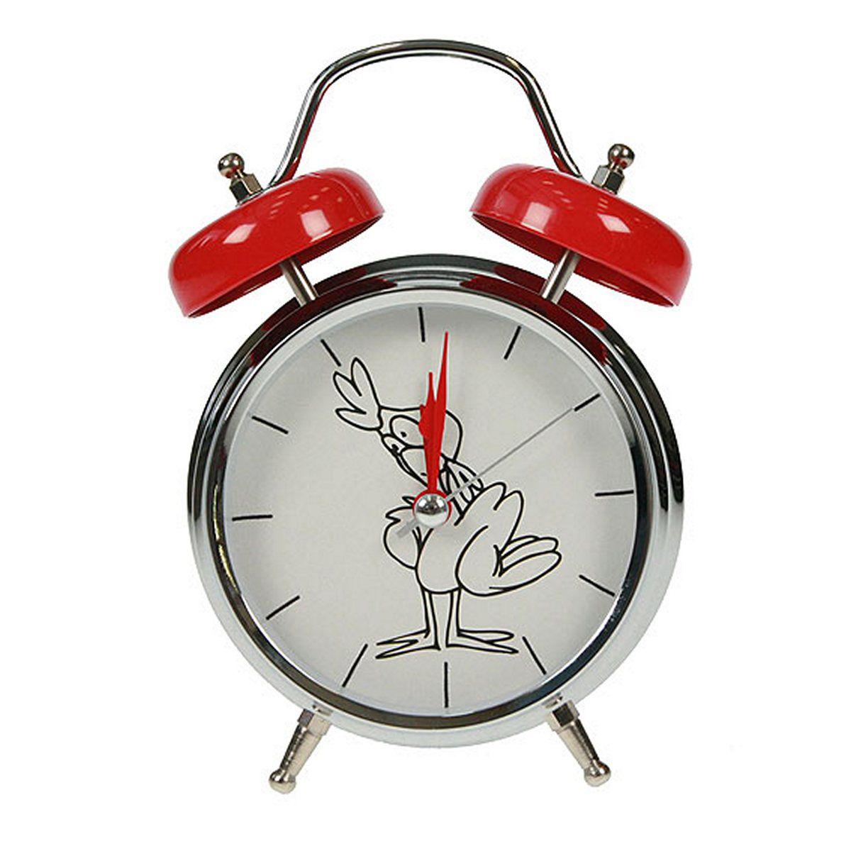 Часы настольные Русские Подарки Петух, с функцией будильника, 12 х 6 х 17 см. 232413232413Настольные кварцевые часы Русские Подарки Петух изготовлены из металла, циферблат защищен стеклом. Оригинальное оформление в виде смешного петуха поднимет настроение, а благодаря функции будильника вы проснетесь вовремя. Часы имеют три стрелки - часовую, минутную и секундную. Такие часы украсят интерьер дома или рабочий стол в офисе. Также часы могут стать уникальным, полезным подарком для родственников, коллег, знакомых и близких. Часы работают от батареек типа АА (в комплект не входят).