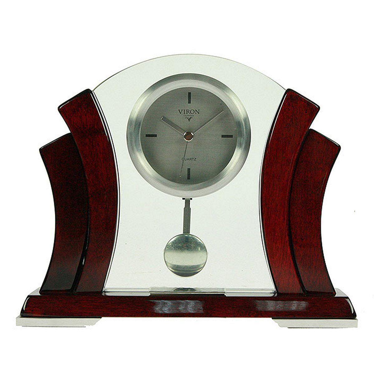 Часы настольные Русские Подарки Viron. 2825628256Настольные кварцевые часы Русские Подарки Viron изготовлены из металла и дерева, циферблат защищен стеклом. Часы имеют три стрелки - часовую, минутную и секундную. Часы оснащены маятником. Такие часы красиво и необычно оформят интерьер дома или рабочий стол в офисе. Также часы могут стать уникальным, полезным подарком для родственников, коллег, знакомых и близких.