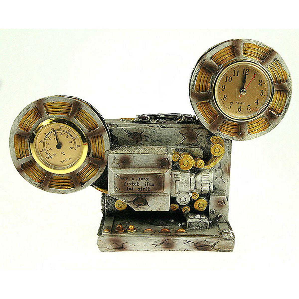 Часы настольные Русские Подарки, с термометром, 30 х 10 х 22 см. 2851428514