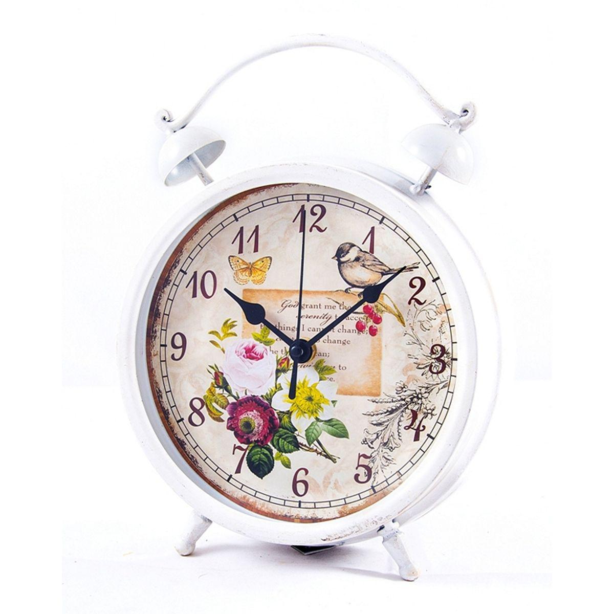 Часы настольные Русские Подарки, 21 х 28 х 6 см. 2960929609Настольные кварцевые часы Русские Подарки изготовлены из металла, циферблат красочно оформлен и защищен стеклом. Часы имеют три стрелки - часовую, минутную и секундную. Такие часы оригинально украсят интерьер дома или рабочий стол в офисе. Также часы могут стать уникальным, полезным подарком для родственников, коллег, знакомых и близких. Часы работают от батареек типа АА (в комплект не входят).