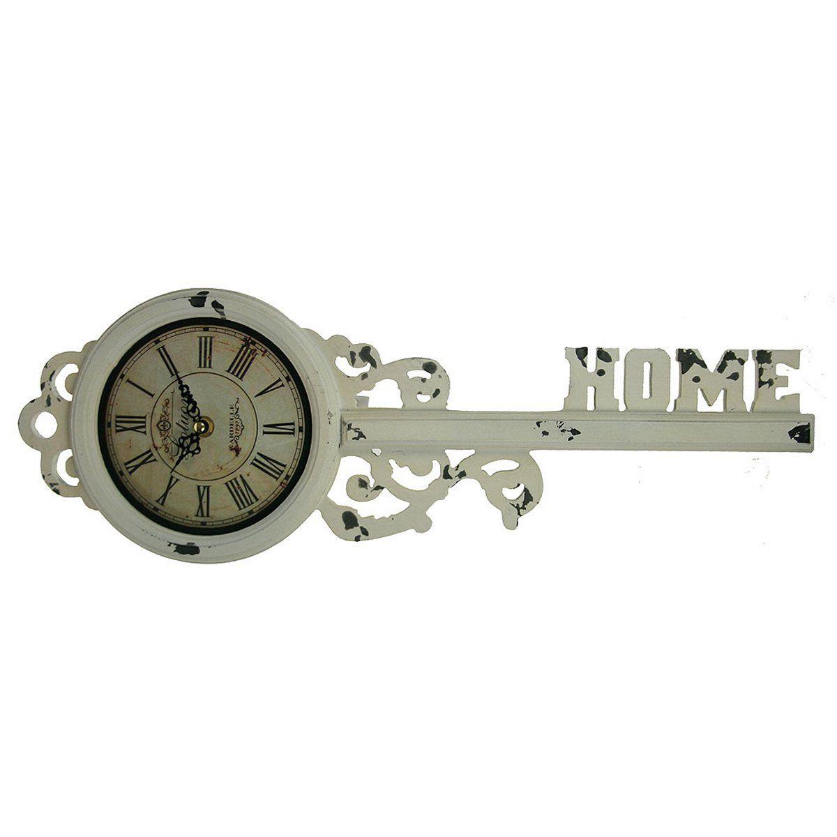 Часы настенные Русские Подарки, 18 х 52 х 5 см. 2961429614Настенные кварцевые часы Русские Подарки изготовлены из МДФ. Корпус выполнен в виде старинного ключа и имеет надпись Home. Часы имеют две стрелки - часовую и минутную. С обратной стороны имеется петелька для подвешивания на стену. Изящные часы красиво и оригинально оформят интерьер дома или офиса.