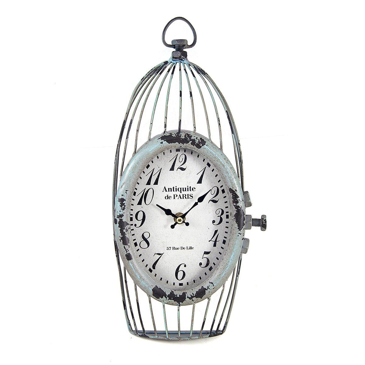 Часы настенные Русские Подарки, 18 х 6 х 37 см. 2963429634Настенные кварцевые часы Русские Подарки изготовлены из МДФ c элементами металла. Корпус выполнен в виде клетки. Часы имеют две стрелки - часовую и минутную. Циферблат защищен стеклом. Сверху имеется петелька для подвешивания на стену. Изящные часы красиво и оригинально оформят интерьер дома или офиса. Часы работают от батареек типа АА (в комплект не входят).