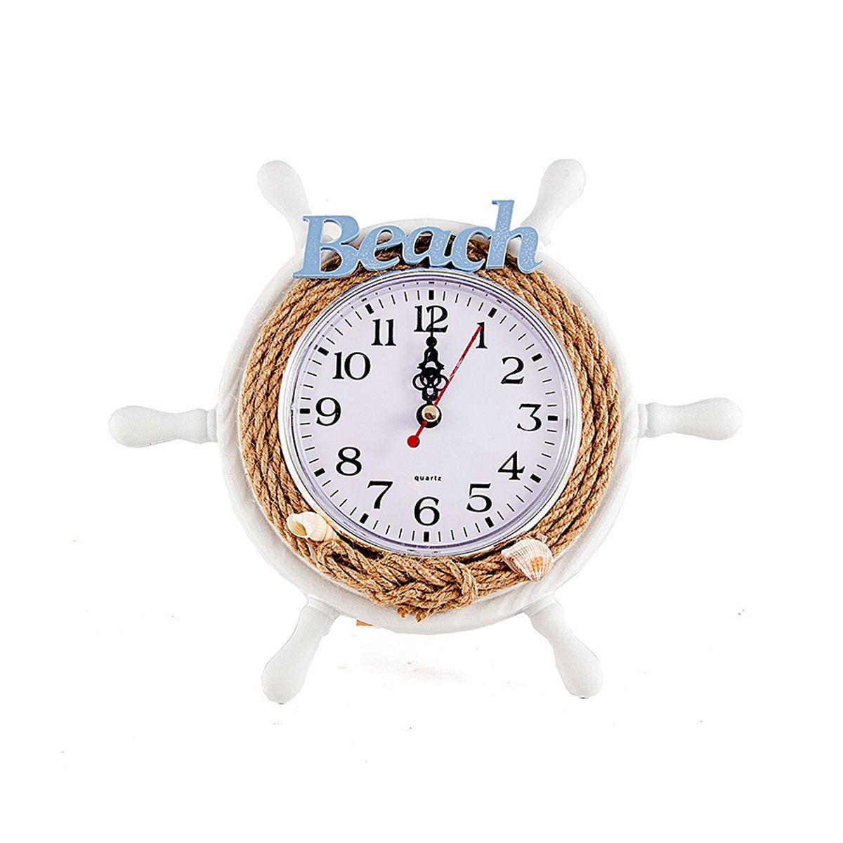 Часы настольные Русские Подарки Морская романтика, диаметр 22 см. 3341033410