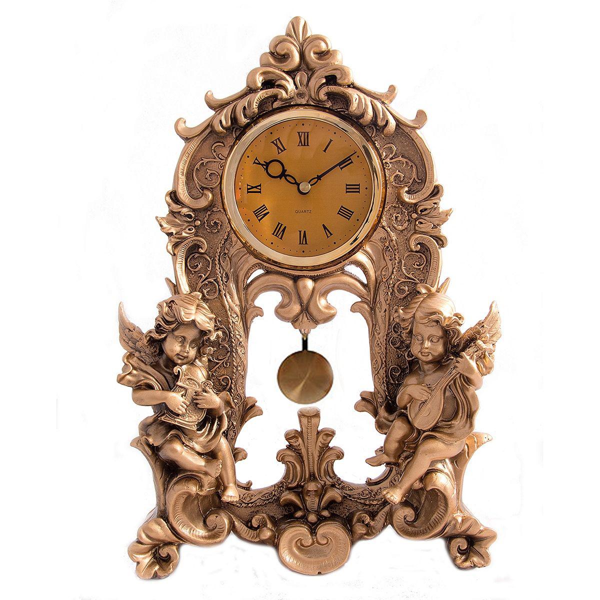 Часы настольные Русские Подарки Ангелочки, 25 х 9 х 35 см. 5933059330