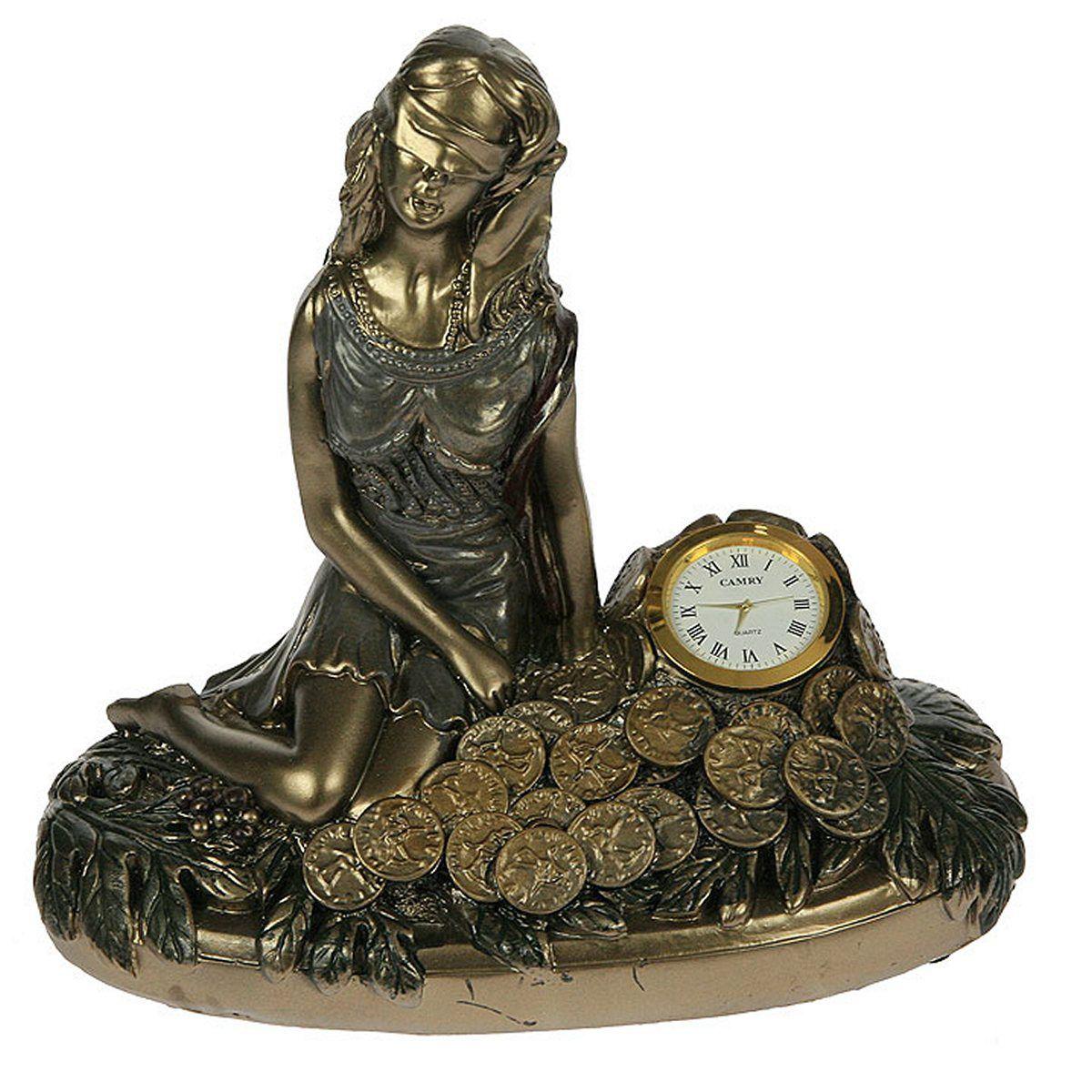 Часы настольные Русские Подарки Римская богиня счастья и удачи - Фортуна, 25 х 14 х 22 см. 5934459344Настольные кварцевые часы Русские Подарки Римская богиня счастья и удачи - Фортуна изготовлены из полистоуна, циферблат защищен стеклом. Часы имеют три стрелки - часовую, минутную и секундную. Изящные часы красиво и оригинально оформят интерьер дома или рабочий стол в офисе. Также часы могут стать уникальным, полезным подарком для родственников, коллег, знакомых и близких. Часы работают от батареек типа АА (в комплект не входят).