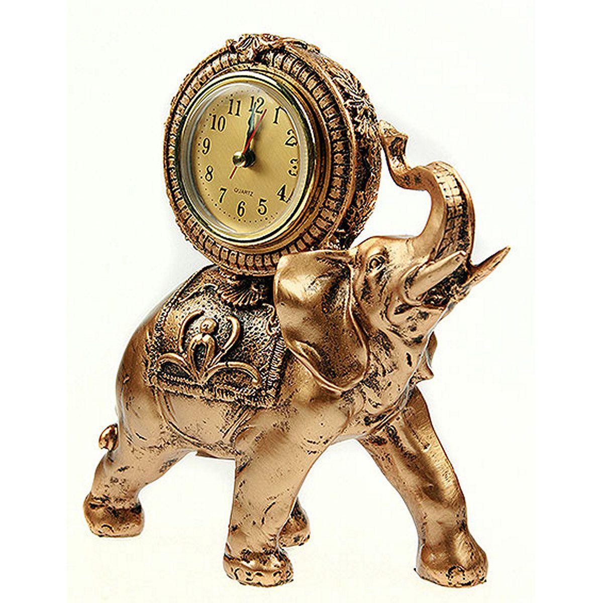 Часы настольные Русские Подарки Слон, 18 х 10 х 20 см. 5936359363