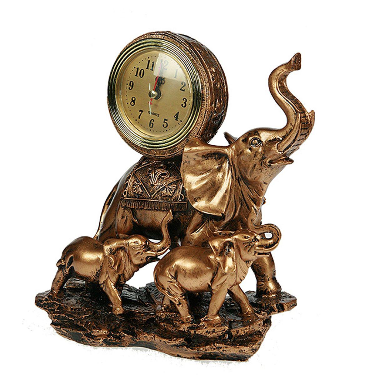 Часы настольные Русские Подарки Слоны, 20 х 12 х 25 см. 5936759367