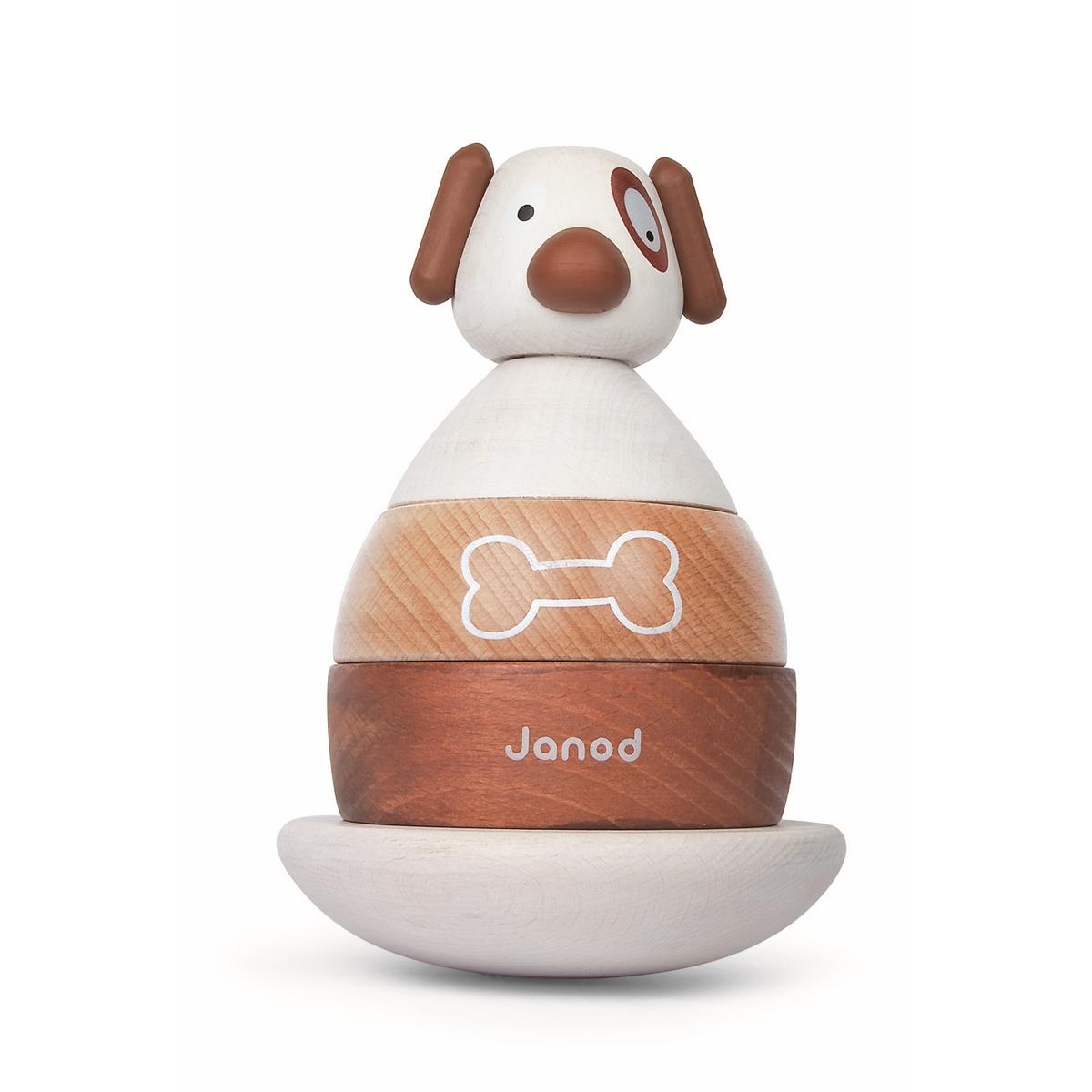 Janod Пирамидка СобачкаJ08111Пирамидка Janod Собачка выполнена из натуральной экологически чистой древесины и окрашена безвредными красками на водной основе. Эта игрушка многофункциональна. Забавные фигурки разбираются на составные части, и ребенку придется приложить усилие, чтобы собрать их в том же порядке. Платформа качается и поэтому ребенок получает представление о равновесии, а еще их можно считать.