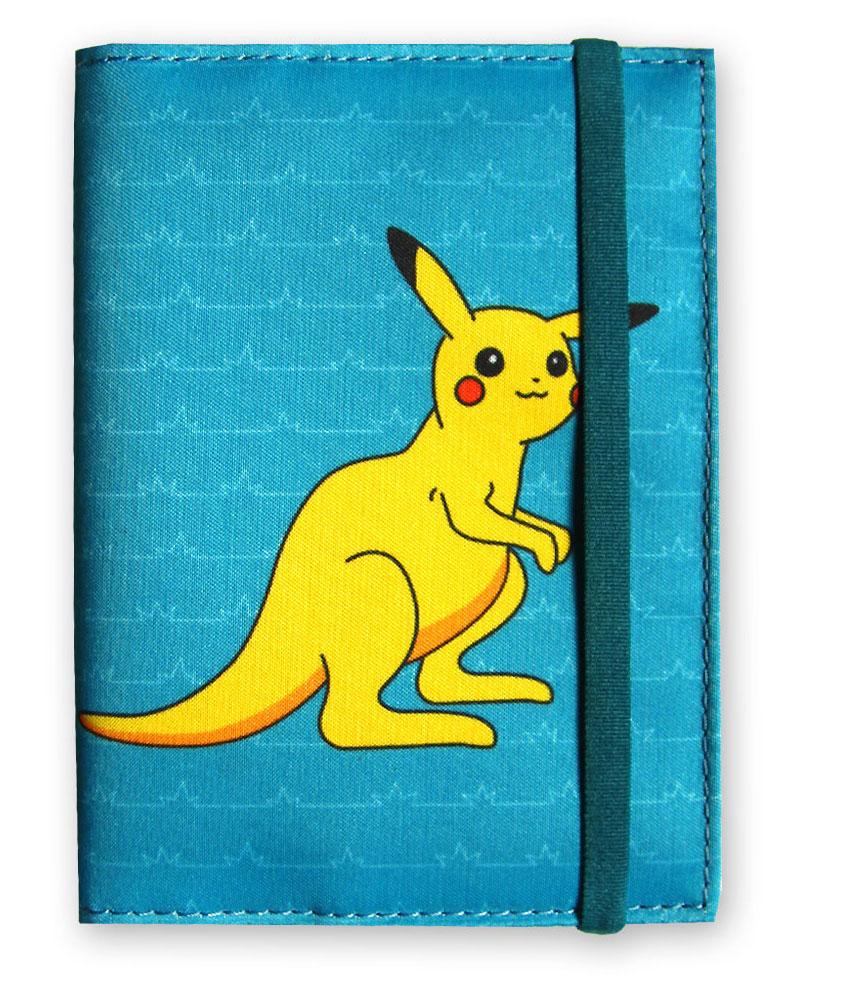 Обложка на паспорт ОРЗ-дизайн Поке-Кенгуру, цвет: бирюзовый , желтый. Орз-0593Орз-0593обложка на паспорт текстильная с принтом