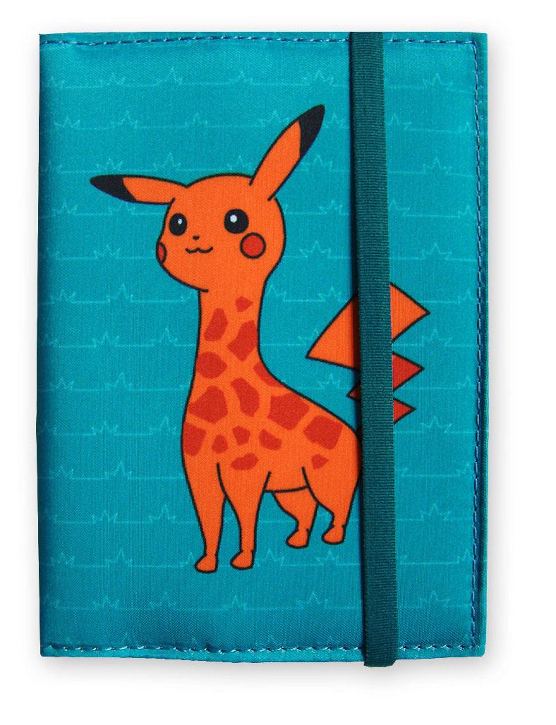 Обложка на паспорт ОРЗ-дизайн Поке-Жираф, цвет: бирюзовый , красный. Орз-0591Орз-0591обложка на паспорт текстильная с принтом