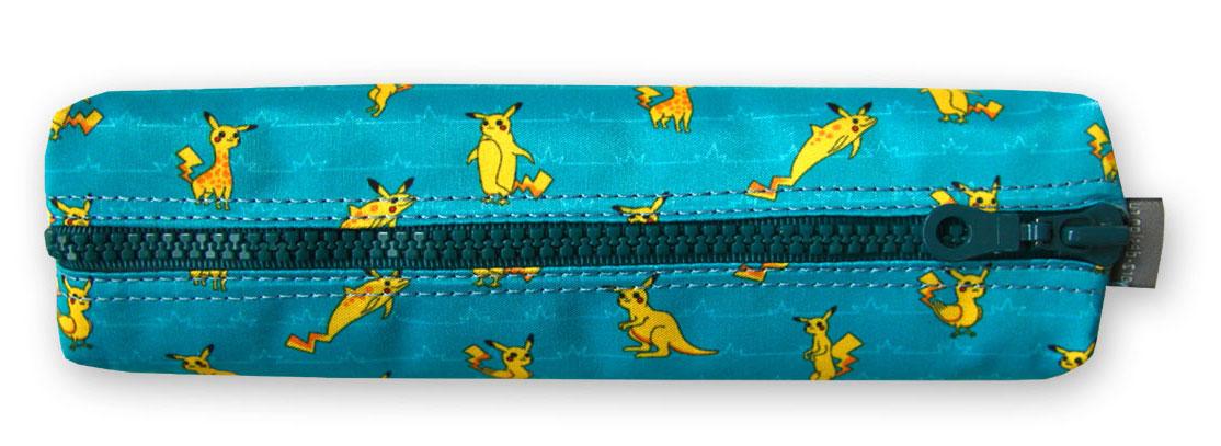 Пенал-тубус ОРЗ-дизайн Покемошки на голубом, цвет: голубой, желтый. Орз-0601Орз-0601Пенал -тубус текстильный с принтом, на молнии