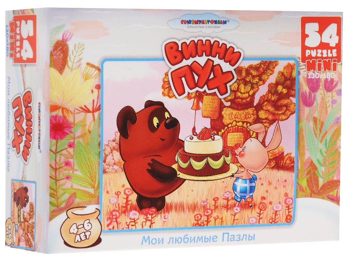 Оригами Пазл для малышей Винни-пух и торт