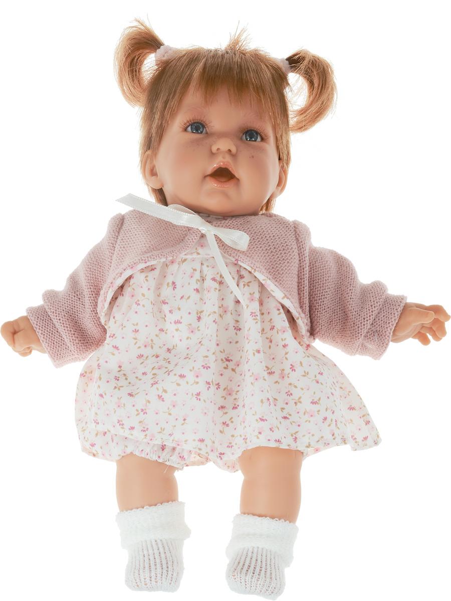 Munecas Antonio Juan Пупс озвученный Элис в платье1227PПупс озвученный Munecas Antonio Juan Элис порадует вашу малышку и подарит массу положительных эмоций. Кукла выполнена с анатомической точностью и выглядит совсем как настоящий малыш. Ручки, ножки и голова подвижны и изготовлены из высококачественного винила. Тело мягконабивное. Элис одета в костюм в цветочек и розовую кофточку. На ножках - теплые белые носочки. На голове завязано два хвостика. Красивые глаза, длинные ресницы, челка и пухлые щечки - все это придает кукле невероятную реалистичность. Кукла озвученная. Нажмите на животик Элис один раз - и она засмеется, второй раз - скажет мама, третий раз - скажет папа. Игра с куклой учит детей проявлять заботу, доброту и выражать свои чувства. Munecas Antonio Juan - это бренд с многолетней историей! Образы малышей разработаны известными европейскими дизайнерами. Куклы производятся в Испании, отливаются из очень мягкого винила, что в сочетании с анатомически точным лицом и телом приближает этих кукол к...