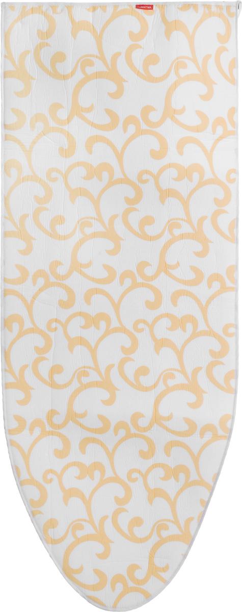 """Чехол для гладильной доски Valiant """"Classic"""", цвет: белый, оранжевый, 146 х 56 см"""