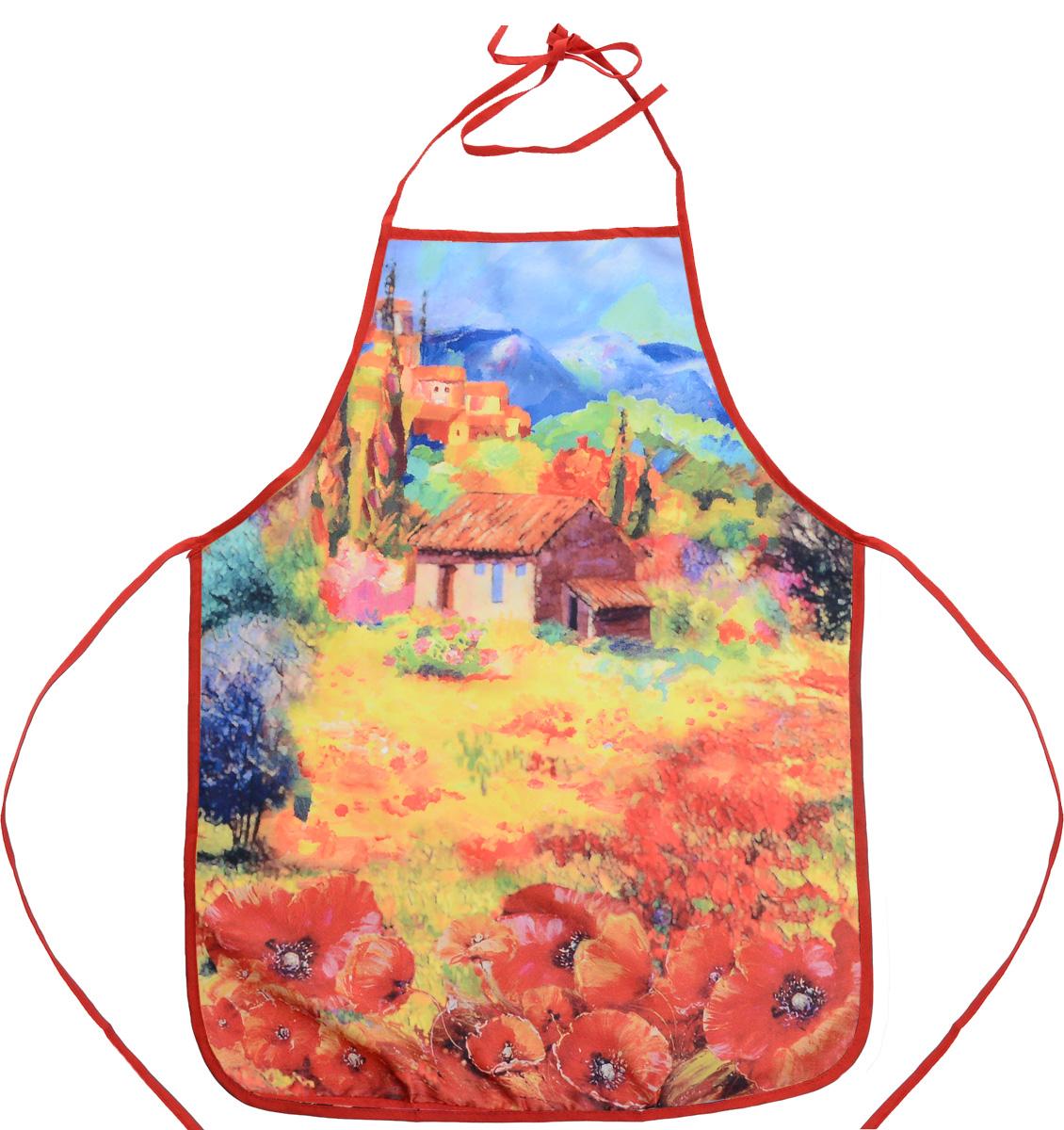 Фартук Bonita Севилья, 55 х 73 см1101211748Фартук Bonita Севилья изготовлен из прочного полиэстера и декорирован красивым изображением маков в стиле импрессионизма. Фартук оснащен завязками. Имеет универсальный размер. Такой фартук поможет вам избежать попадания еды на одежду во время приготовления пищи. Кухня - это сердце дома, где вся семья собирается вместе. Она бережно хранит и поддерживает жизнь домашнего очага, который нас согревает. Именно поэтому так важно создать здесь атмосферу, которая не только возбудит аппетит, но и наполнит жизненной энергией. С текстилем Bonita открывается возможность не только каждый день дарить кухне новый облик, но и создавать настоящие кулинарные шедевры. Bonita станет незаменимым помощником и идейным вдохновителем, создающим вкусное настроение на вашей кухне.