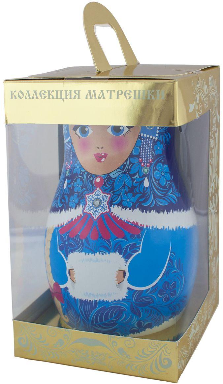 Дольче Вита Новогодняя матрешка голубая черный листовой чай, 50 г4603224147023Дольче Вита Новогодняя матрешка - цейлонский черный крупнолистовой чай с листьями малины, ягодами можжевельника и красной смородины. Чай помещен в красочную подарочную упаковку-матрешку.