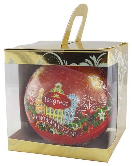 Дольче Вита Новогодний черный листовой чай (цвет красный), 50 г
