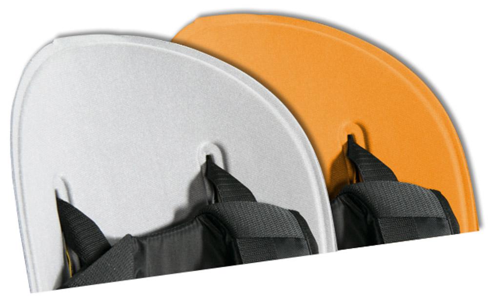 Вкладыш для велокресла Thule Ride Along, цвет: серый, оранжевый100401Легко стирается и чистится благодаря водоотталкивающим свойствам. Два цветовых исполнения: светло-серый с оранжевым или темно-серый с фиолетовым
