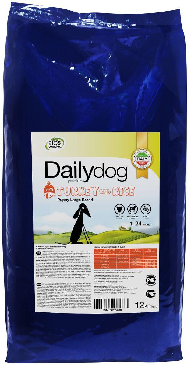 Корм сухой Daily Dog Puppy Large Breed, для щенков крупных пород, с индейкой и рисом, 12 кг238ДД*12DailyDog — это корма следующего поколения, в которых сочетаются опыт, традиционный подход к питанию животных и новые разработки для улучшения качества жизни собак в условиях современного мегаполиса.