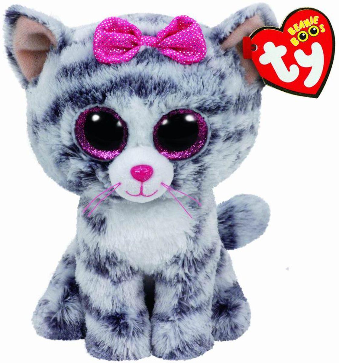 TY Beanie Boos Мягкая игрушка Кошка Kiki цвет серый 15 см37190Мягкая игрушка Beanie Boos Кошка Kiki - это милая игрушка с бантиком, предназначенная для девочек. Такой пушистый зверек может стать питомцем для ребенка и его верным спутником. Котенка можно гладить, обнимать. Кики может быть рядом везде: на прогулке, во время сна или сопровождать девочку в поездке. Игры с мягкими игрушками положительно влияют на развитие фантазии и тактильного восприятия, а также помогают привить детям любовь к животным. Характеристики: Возраст: От 3 лет. В комплект входит: кошка серая. Размер игрушки: 15 x 8 x 6 см. Вид упаковки: ярлык. Из чего сделана игрушка (состав): искусственный мех, Текстиль, Пластик.