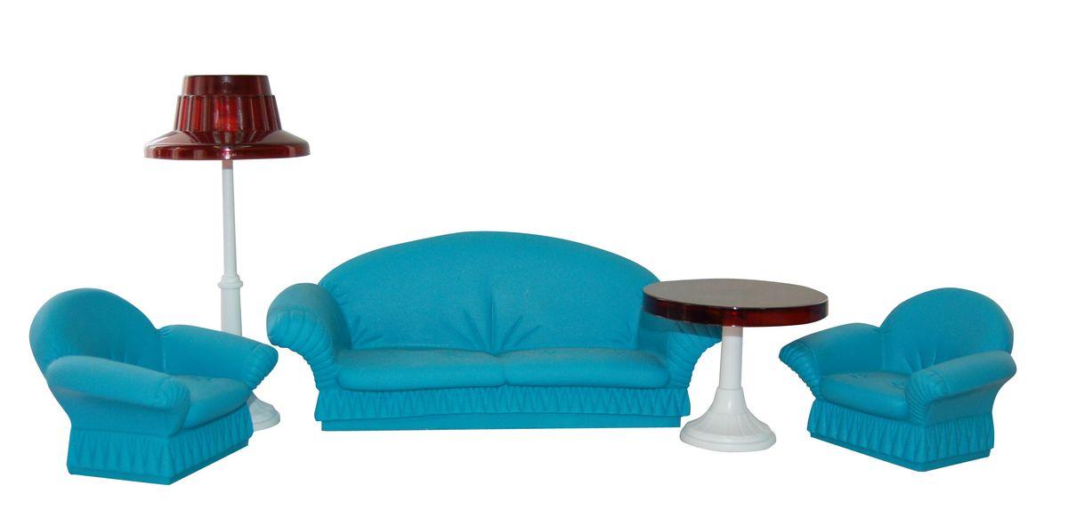 Огонек Гостиная для куклы КонфеттиОГ1336Гостиная «Конфетти» - отличное место, где могут собираться, принимать гостей и вести беседы куклы девочек. Миниатюрный диван и кресла имитируют мягкую мебель, а торшер и журнальный столик создают уют, свойственным настоящим гостиным комнатам. С этим набором ролевые игры с куклами станут еще реалистичней и интересней — декорации собраны, остальное сделает воображение.