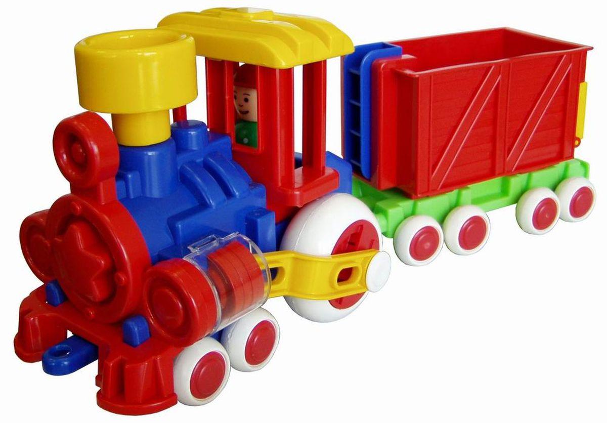 Форма Паровозик Ромашка с вагоном Детский садС-118-ФСимпатичный разноцветный паровозик Ромашка для игр дома и в детском саду. Человечек вынимается. Поршни в цилиндрах двигаются, паровозик можно катать. Вагончик отцепляется. Отличная игрушка для сюжетно - ролевой игры.
