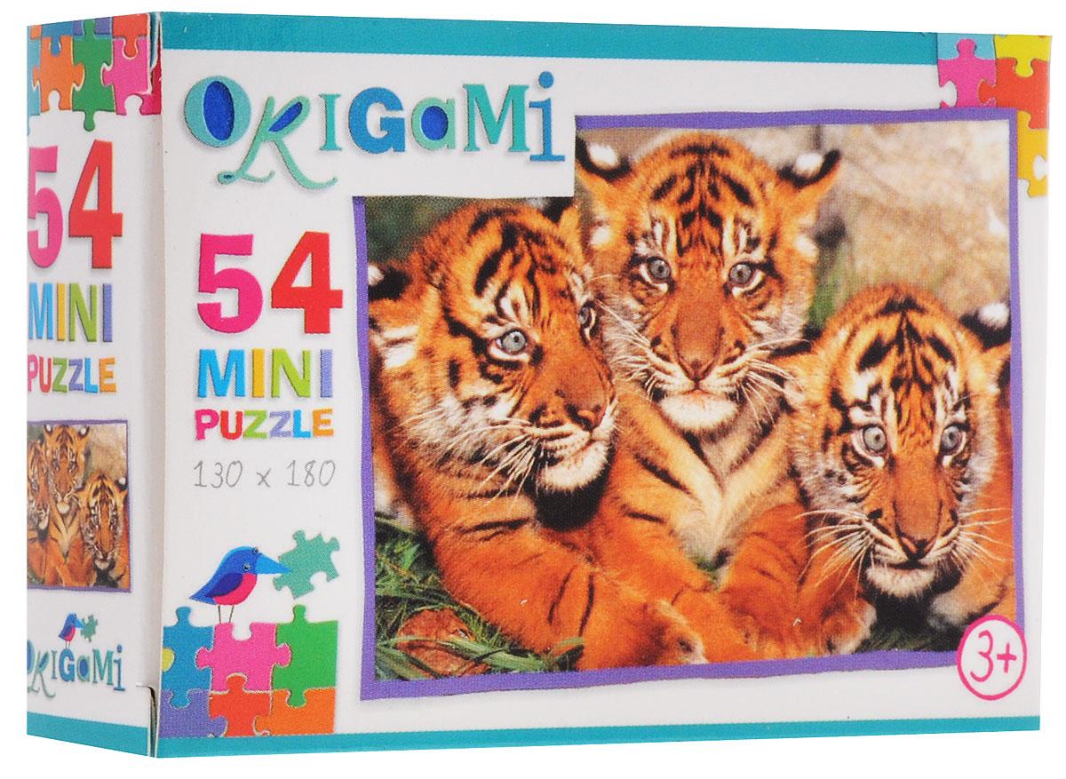 Оригами Пазл для малышей Тигрята