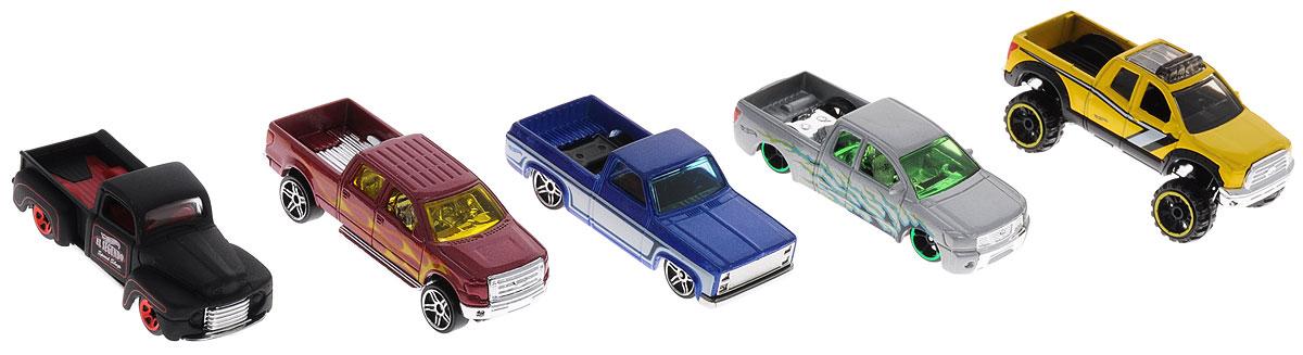 Hot Wheels Набор машинок Hot Trucks 5 шт1806_DJD28Набор машинок Hot Wheels Hot Trucks представляет собой 5 реалистичных авто. Модели отличаются высоким качеством исполнения и детализации. Корпус моделей выполнен из металла, стекла изготовлены из прочного прозрачного пластика. Главной задачей является выдержать активное использование в играх ребенка. Колесики машинок оснащены свободным ходом. Ваш ребенок увлеченно будет играть с набором машинок, придумывая различные истории. Порадуйте его таким замечательным подарком!
