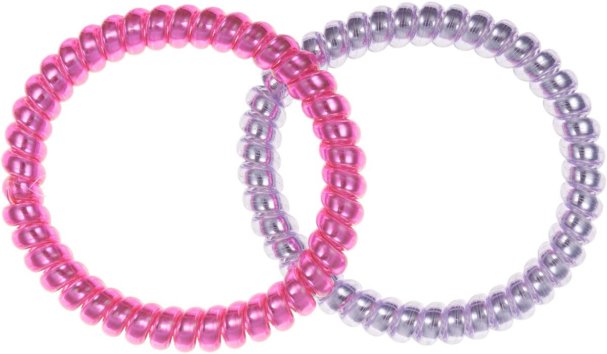 Baby's Joy Резинка-браслет для волос цвет сиреневый, розовый 2 шт