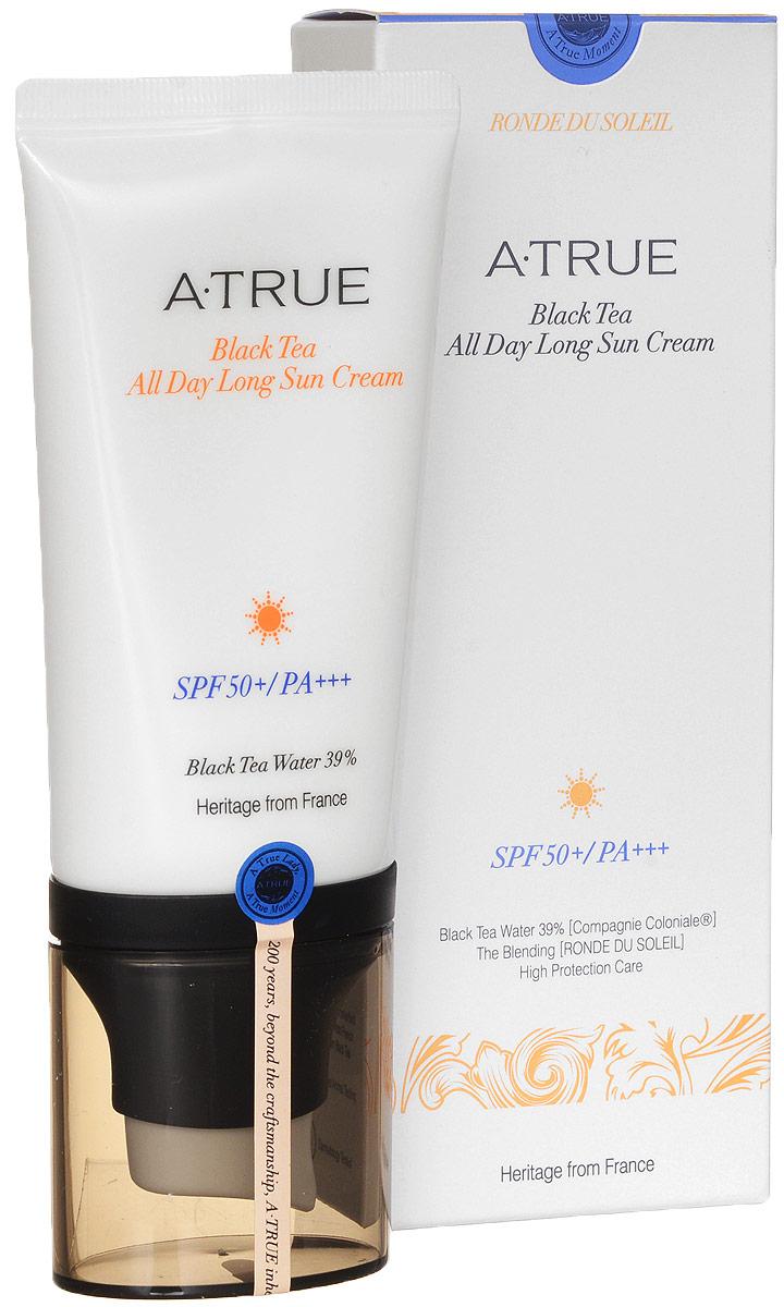 A-True Крем Для Лица Солнцезащитный Стойкий SPF 50+/PA+++ Черный Чай, 50 мл.AT860491Стойкий крем защищает кожу от негативного воздействия солнечных лучей на кожу. Не оставляет жирных следов и ощущения липкости.Подходит для всех типов кожи.