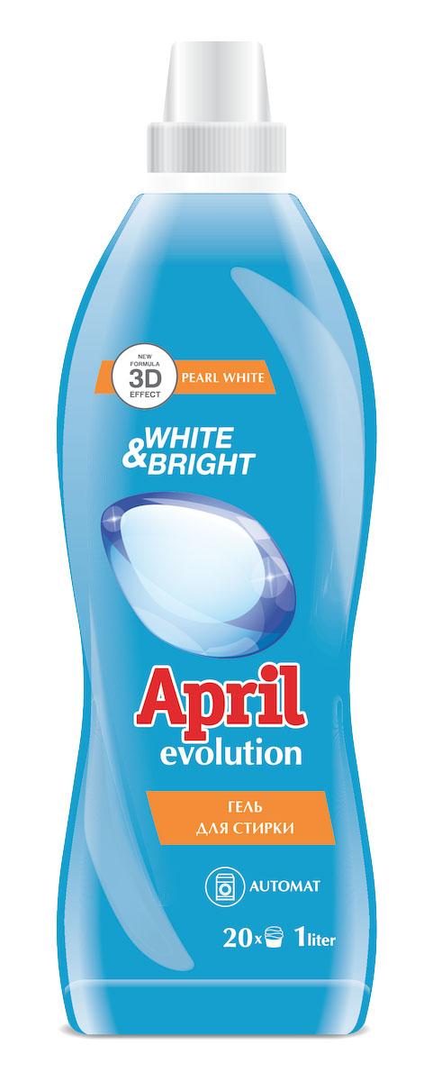 Гель для стирки April Evolution white & bright, 1000 мл4814628003635