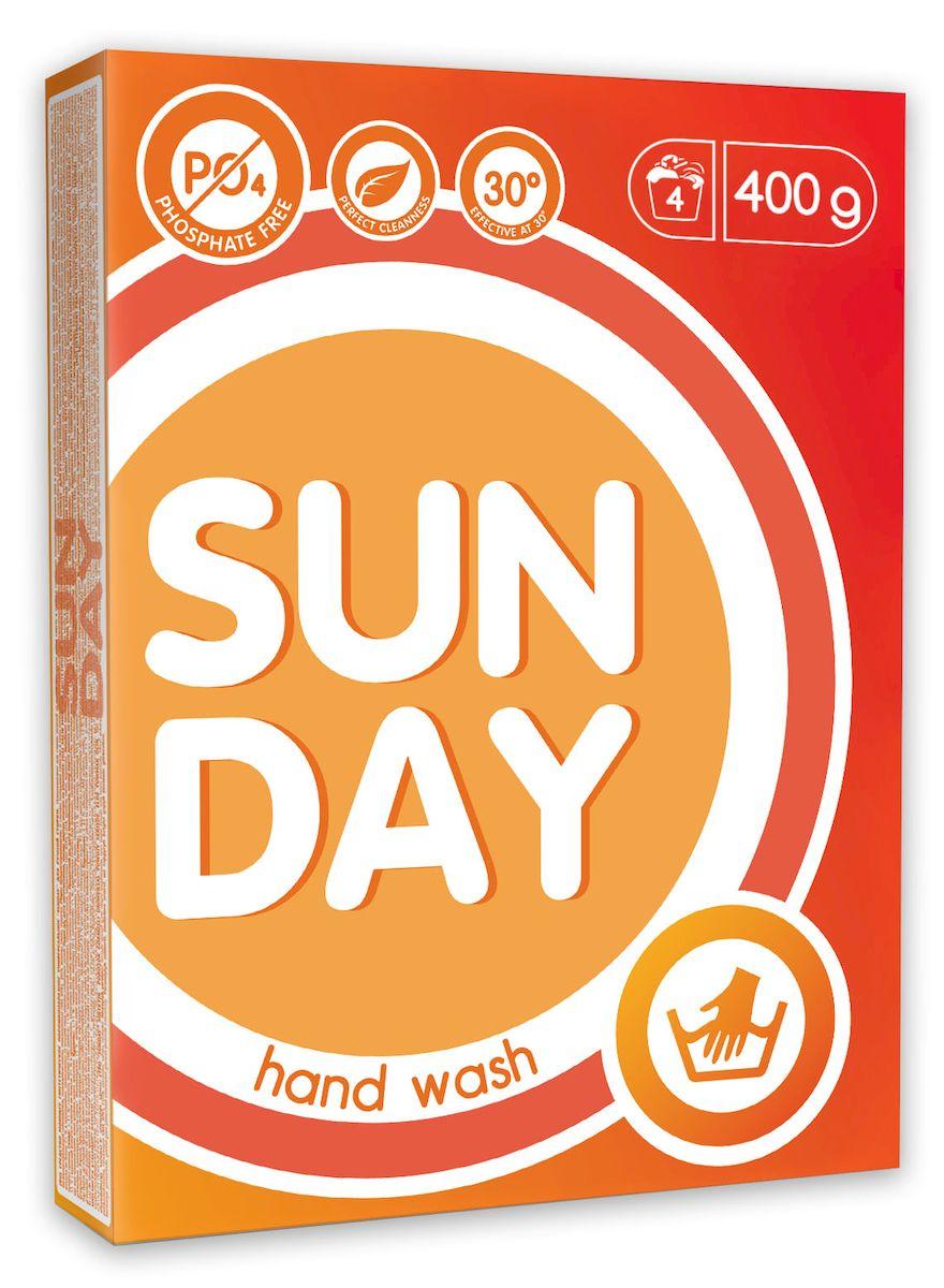 Стиральный порошок Sunday, универсальный, ручная стирка 0,4 кг4814628005448