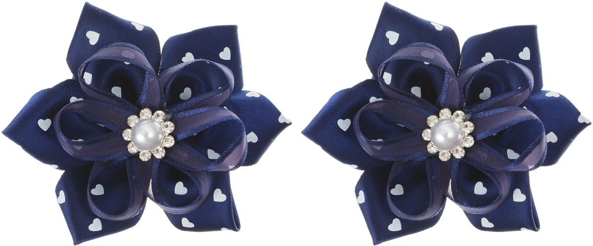 Baby's Joy Резинка для волос цвет синий сердечки 2 шт MN 140/3