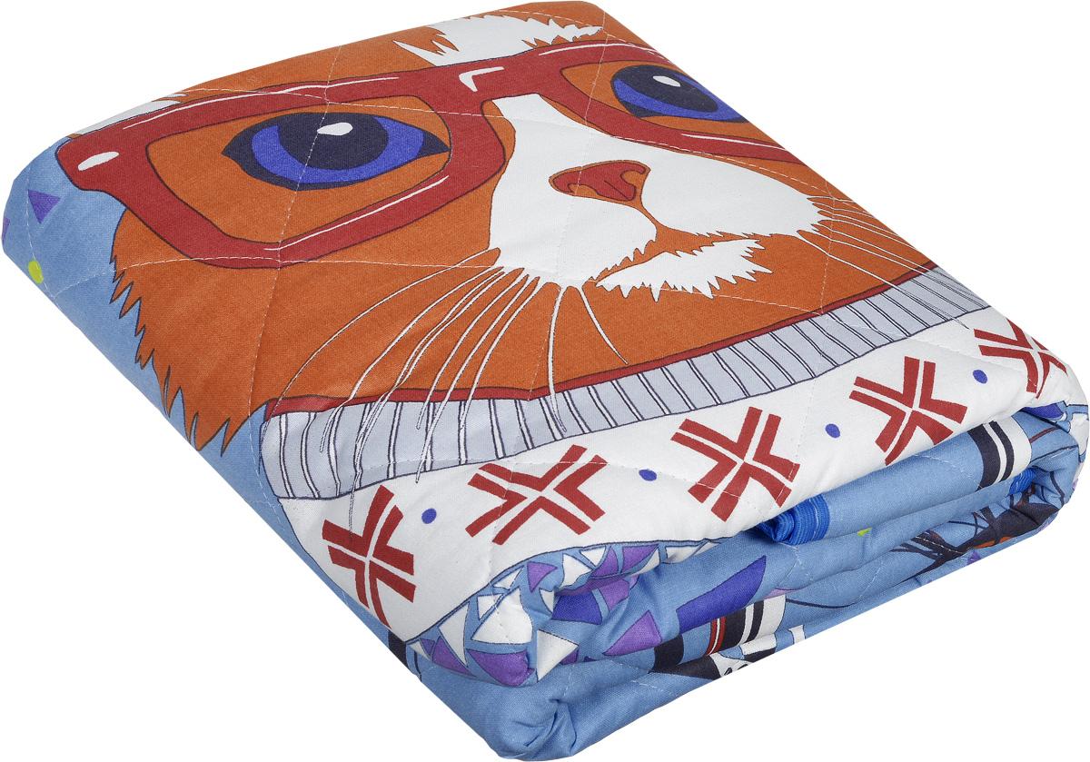Letto Детское покрывало-одеяло Кот 140 х 200 смvelocat-140Детское покрывало-одеяло Letto Кот будет радовать вашего малыша в любое время года. Сидеть на таком покрывале будет приятно и комфортно - ведь оно выполнено из 100% хлопка. Наполнитель - силиконизированное волокно. Это полое спиралеобразное волокно. Полая структура позволяет силиконовому волокну хорошо пропускать воздух, испаряя влагу, и задерживать тепло. Вашему ребенку не будет жарко под таким одеялом, а это значит, что он не будет раскрываться. Одеяло сохраняет свою форму даже при длительной эксплуатации, после многочисленных стирок. Поставляется покрывало-одеяло в сумке-чехле. Изделие подлежит машинной стирке строго на деликатном режиме 30 градусов.