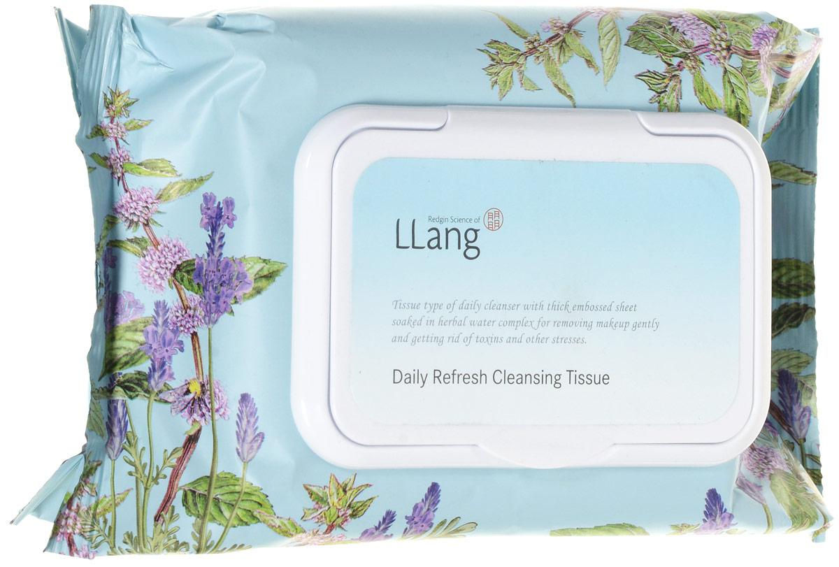 Llang Салфетки ежедневные освежающие, 352гр/60 шт.PD001128A1Очищающие салфетки помогают бережно устранить загрязнения и удалить макияж, не оставляя следов. В состав входит витаминный комплекс (В, С и Е), что способствует предотвращению появления пигментных пятен. Легко использовать, удобно брать с собой.