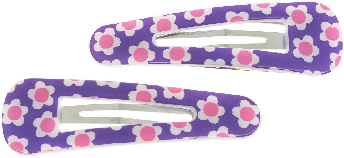 Baby's Joy Заколка для волос Цветочки цвет фиолетовый розовый 2 шт