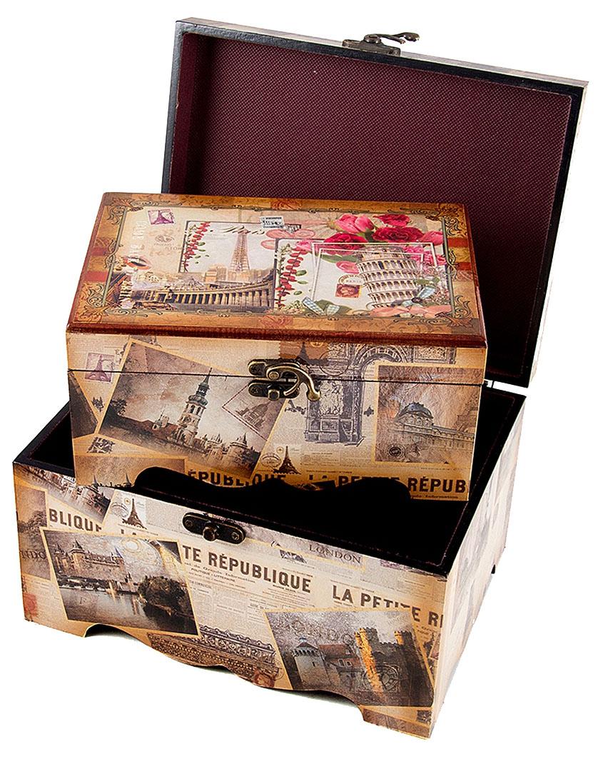 Набор сундучков Roura Decoracion, 3 шт, 26х19х12 см. 3465934659