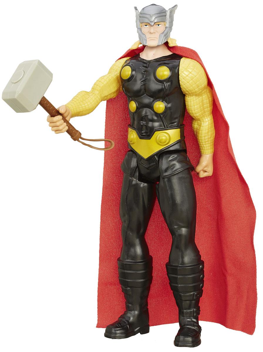 Avengers Фигурка ThorB6660EU4_B6531Фигурка Avengers Thor непременно привлечет внимание вашего ребенка и не позволит ему скучать. Фигурка выполнена в виде супергероя Тора из команды Мстителей. В комплект также входит молот Тора - Мьельнир. Фигурка выполнена из прочного безопасного пластика. Она в точности повторяет внешний вид героя. Голова, руки и ноги фигурки подвижны, что позволяет придавать ей различные позы и открывает ребенку неограниченный простор для игр. Тор - один из самых известных супергероев Вселенной Marvel, сын бога Одина. Он обладает сверхчеловеческой силой и выносливостью, а в бою полагается на свой верный молот - Мьельнир, который не может поднять никто, кроме него. Высокое качество исполнения этой фигурки порадует не только детей, но и взрослых коллекционеров, и такая фигурка займет достойное место в любой коллекции.
