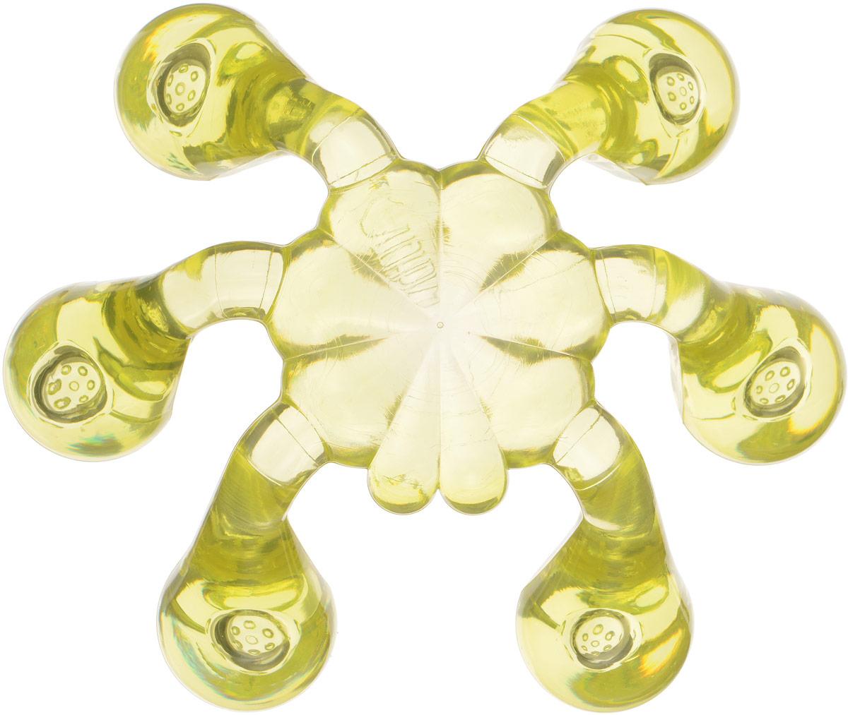 Лапонька-краб мануальный массажер, цвет: светло-желтыйЛапонька-краб_светло-желтыйМануальный массажер для любой части тела 6 массажных пальчиков с шипами Отличительной чертой массажера «ЛАПОНЬКА - Краб» является увеличение количества массажных пальчиков. На каждом из шести пальчиков присутствуют 7 массажных элементов, благодаря которым производится воздействие на более глубокие слои организма, а также, за счет увеличения площади соприкосновения, значительно упрощается процесс использования данного массажера.